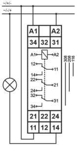 Podłączenie przekaźników MIR17-001-U240